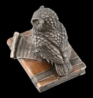Box - Scops Owl on old Books