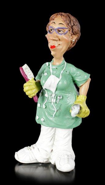 Funny Job Figur - Zahnarzthelferin mit Zahnbürste