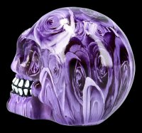 Totenkopf mit Rosen - Purple Romance - medium