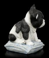 Dog Figurine - Bulldog on Cushion
