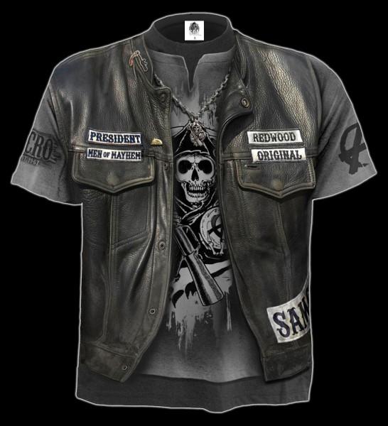 Spiral Holster Wrap Sleeveless T Shirt All Over Print black