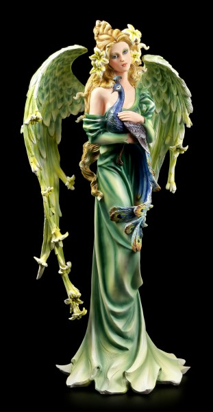 Angel Figurine Lily with Peacock