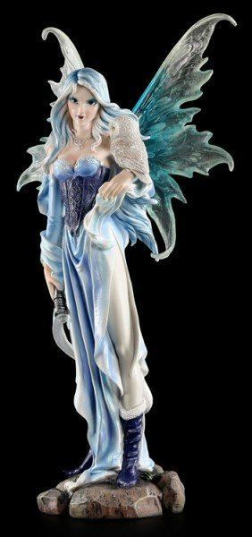 Large Fairy Figurine - Millicent with Owl