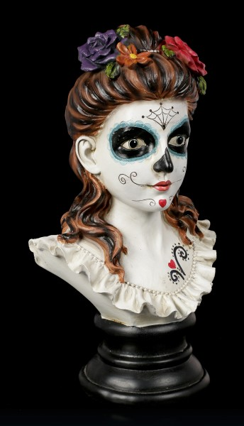 Day of the Dead Büste - Flores De Los Muertos