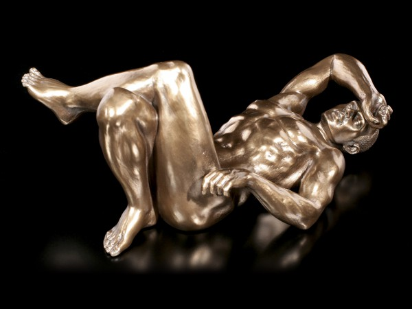 Male Nude Figurine - Lying on Back