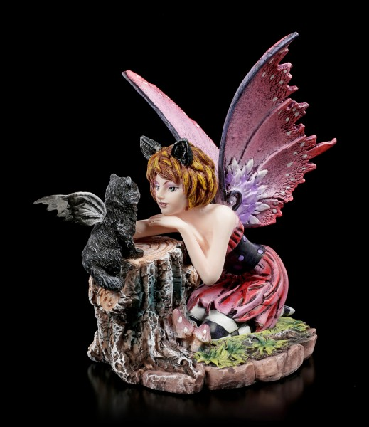 Fairy Figurine - Catfairy Felinero with little Cat