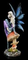 Elf Figurine - Boleta sits on Mushroom