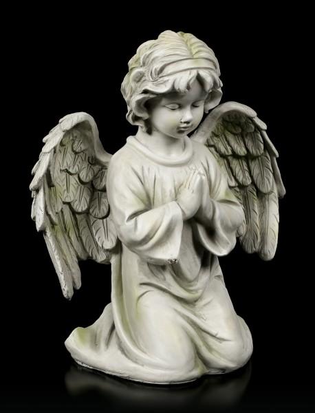 Engel Gartenfigur - Kind betend