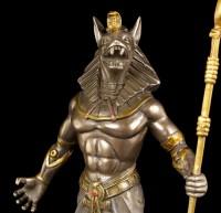 Egyptian Warrior Figurine - Anubis - bronzed