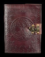 Leather Journal with Lock - Tree of Life