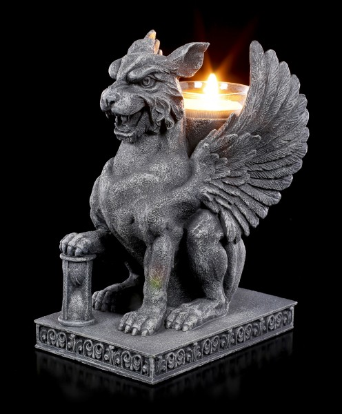 Tealight Holder - Griffin with Hour Glass