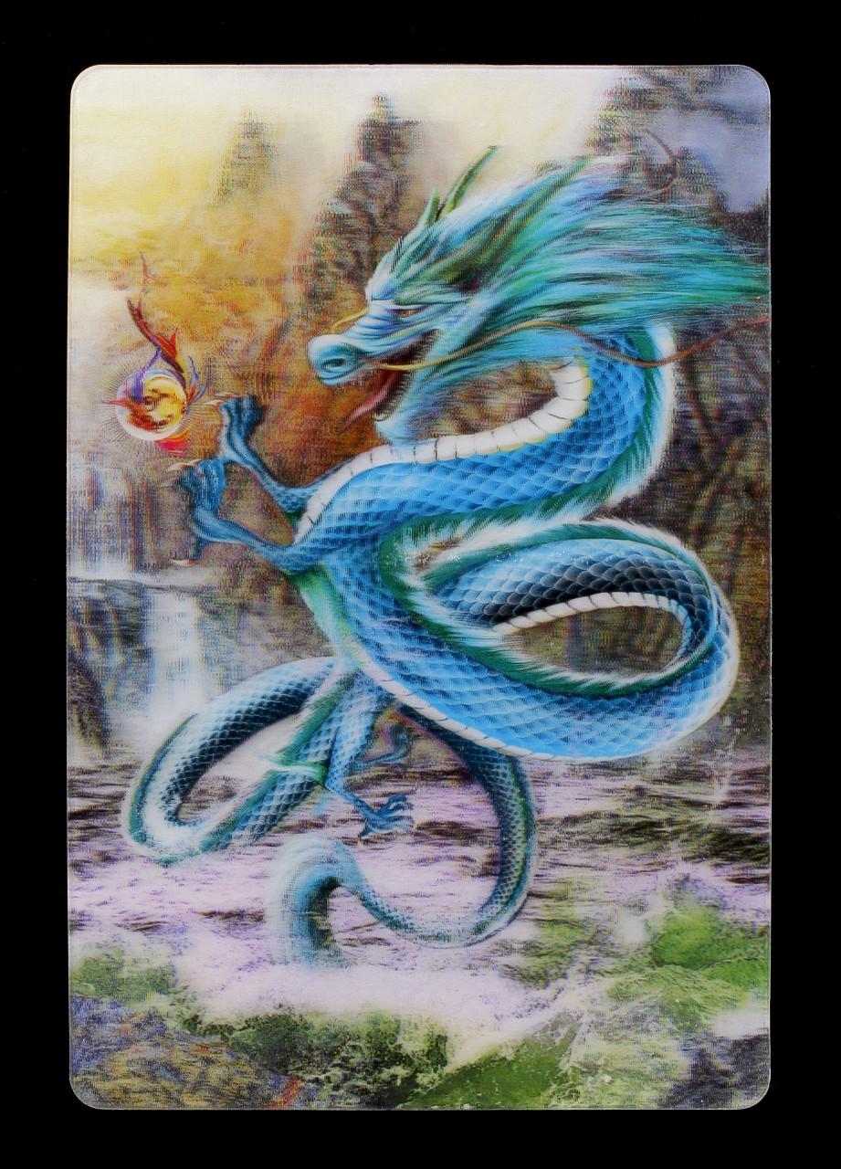 3D Postkarte - Chinesischer Drache