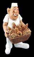 Funny Jobs Figur - Bäcker mit Brotkorb