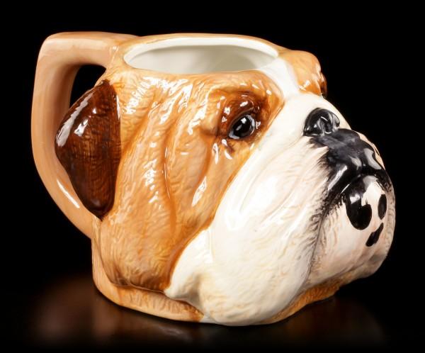 Keramik Tasse - Englische Bulldogge