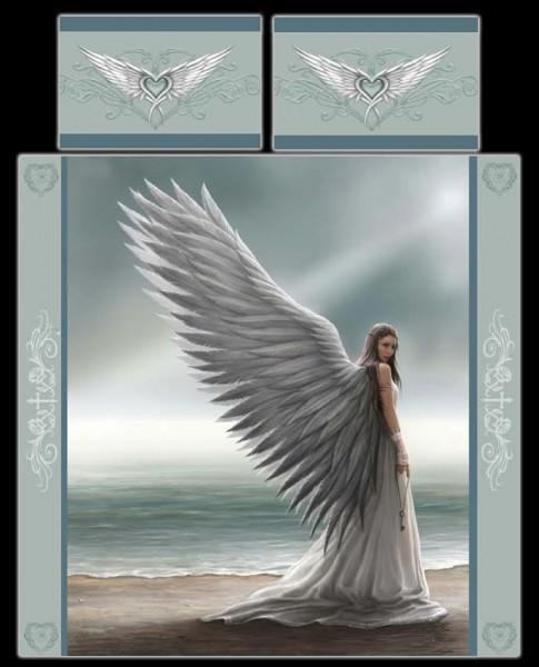 Fantasy Doppel-Bettwäsche Engel - Spirit Guide by Anne Stokes