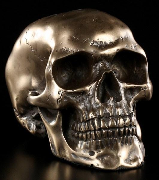 Skull medium - bronze