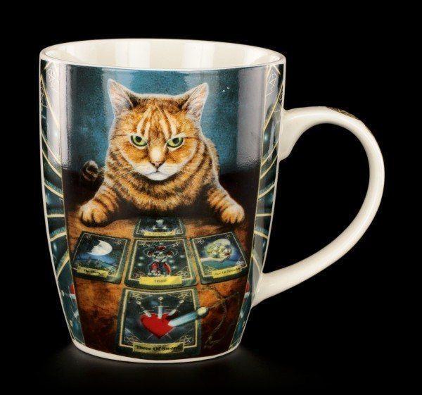 Porzellan Tasse mit Katze - The Reader