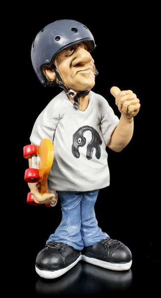 Funny Sports Figurine - Skater with Helmet