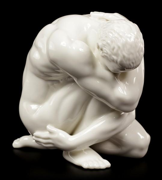 Porzellan Figur - Nackter Mann am Boden