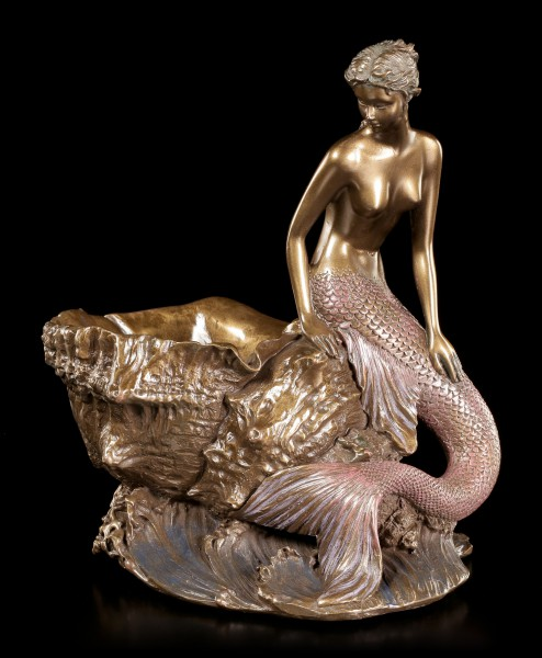 Art Nouveau Bowl - Mermaid besides Shell