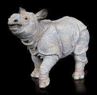 Garden Figurine - Rhinoceros Baby