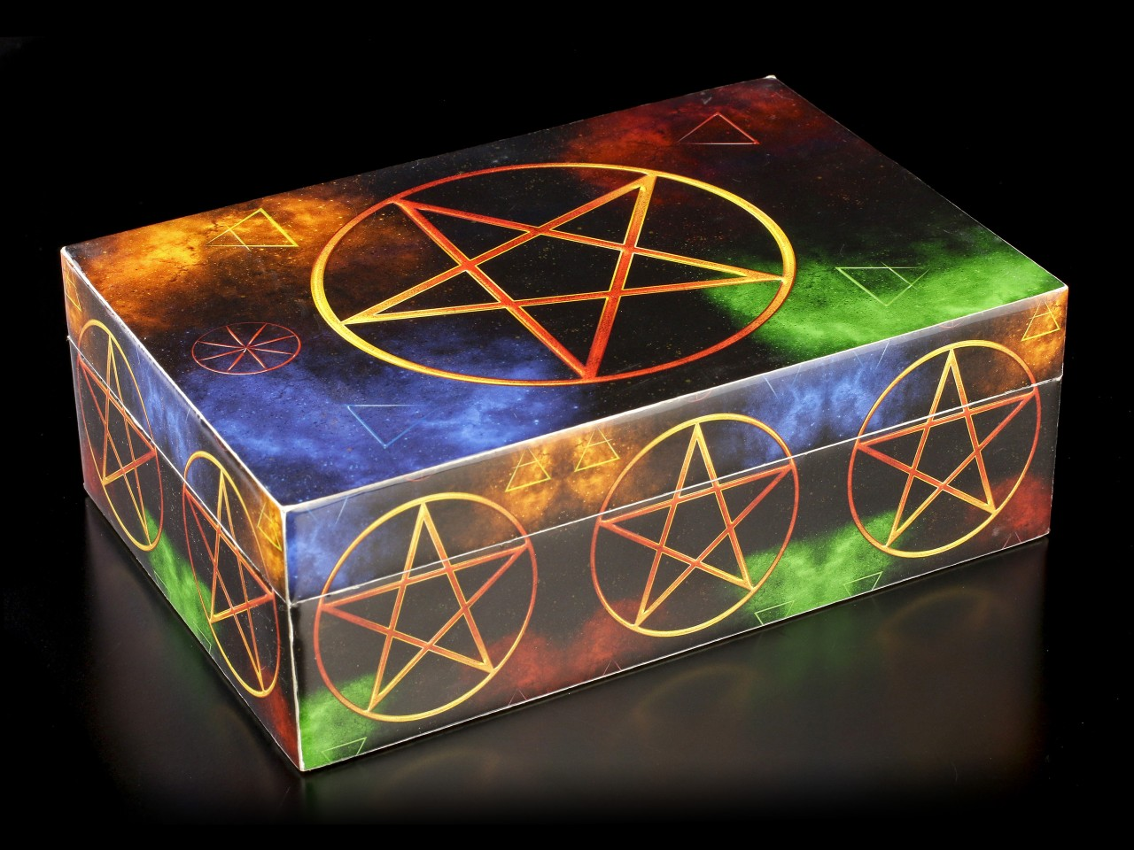 Box with Colorful Pentagram