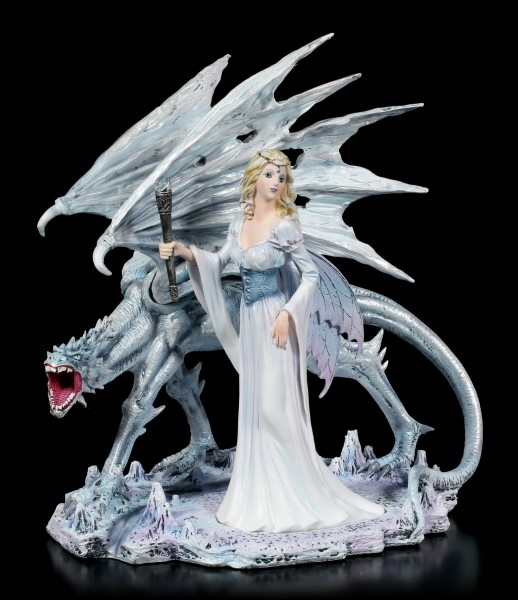 Fairy Figurine - Calista with Ice Dragon