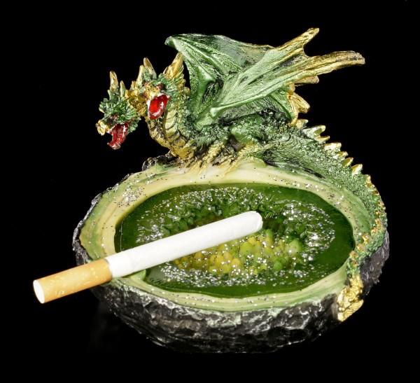 Drachen Aschenbecher - grün