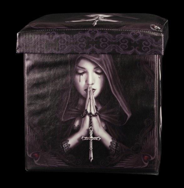 Aufbewahrungsbox mit Sitzmöglichkeit - Gothic Prayer