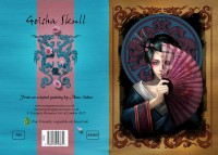 Fantasy Greeting Card - Geisha Skull