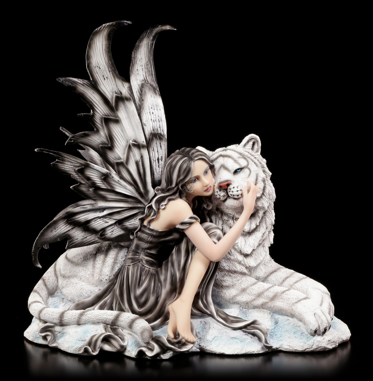 Fairy Figurine with white Tiger - Arctic Warmuth