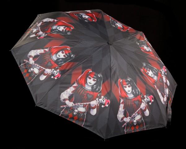 Regenschirm mit Harlekin - Dark Jester