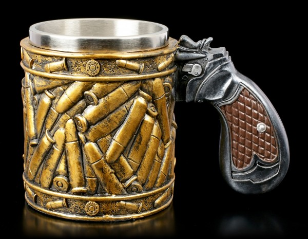 Tankard with Gun Handle - Bullets