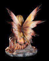 Elfen Figur - Himiyana mit Drachenjungem im Herbst
