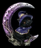 Hexen Katzenfigur - Grimalkin auf Halbmond