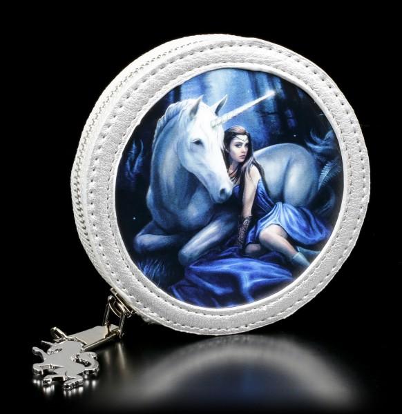 3D Münzgeldbörse mit Einhorn - Blue Moon