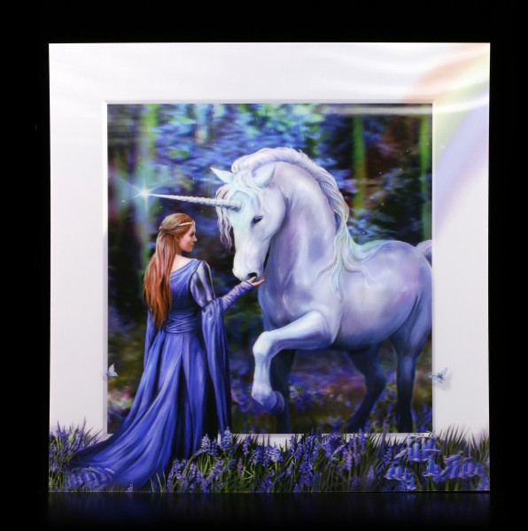 5D Picture with Unicorn - Bluebell Woods