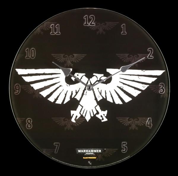 Glas Wanduhr Warhammer - Imperial Aquila