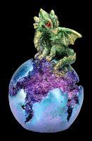 Grüne Drachenfigur - Geode Guard LED
