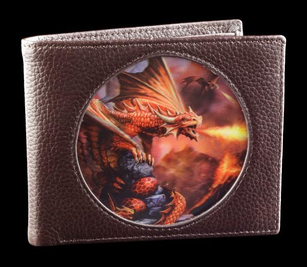 Geldbörse braun mit 3D Drache - Fire Dragon