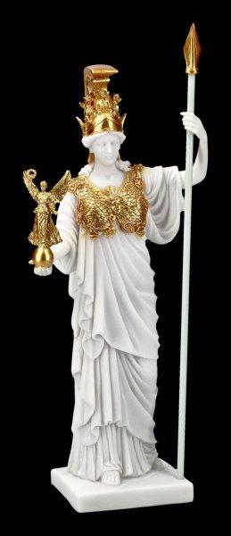Athena Figur - Griechische Göttin weiß-gold