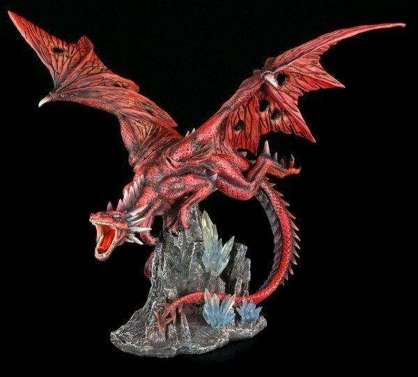 Große rote Drachen Figur - Red Fury