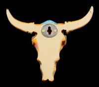 Wall Plaque Ornament - Small Indian Cattle Skull