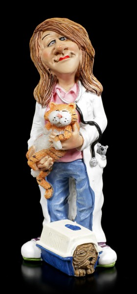 Funny Jobs Figurine - Veterinarian with Dog and Cat