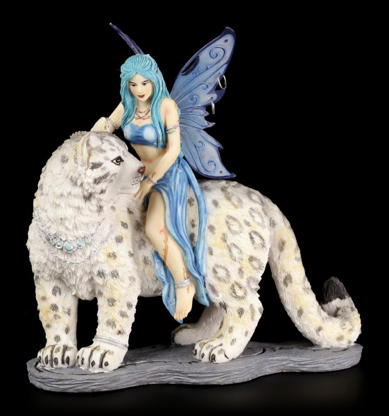 Fairy Figurine - Hima with Snow Leopard