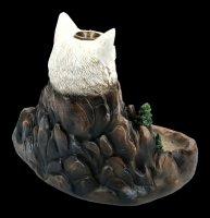 Backflow Incense Cone Holder - Wolf Wild Ridge