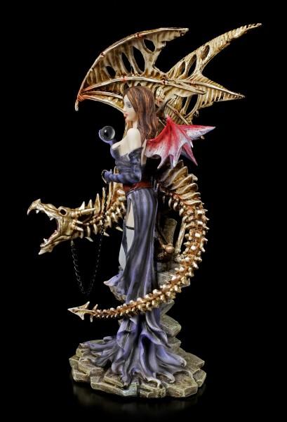 Dark Angel Figurine - Larua with Skeleton Dragon