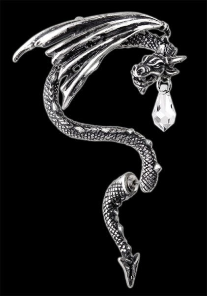 Crystal Dragon - Alchemy Gothic Earring