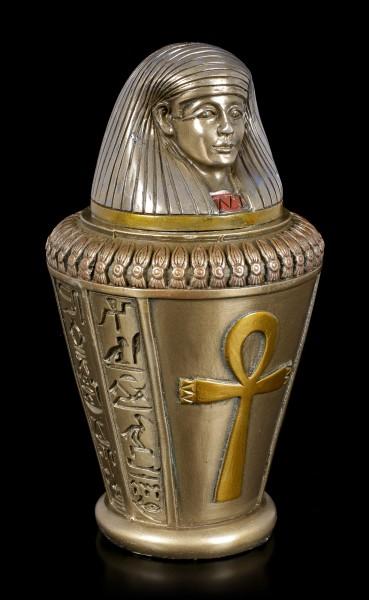 Canopic Jar - Imsety - Son of Horus - bronzed
