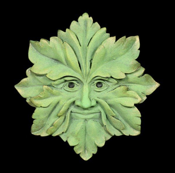 Garden Wall Plaque - The Green Man Star